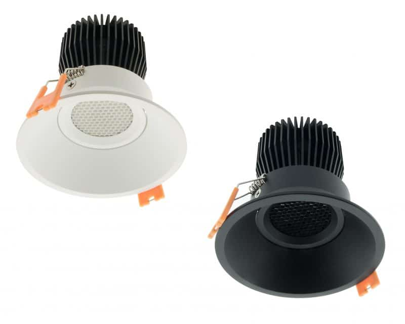 LED Downlight 95 HO mit Wabenraster – IP43 | CRI/RA 97 (Schwenkbar)