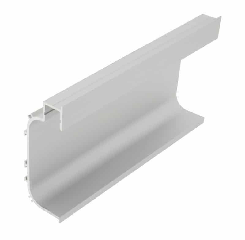 LED Profil KLC<br>29 mm x 75 mm Griffmuldenprofil