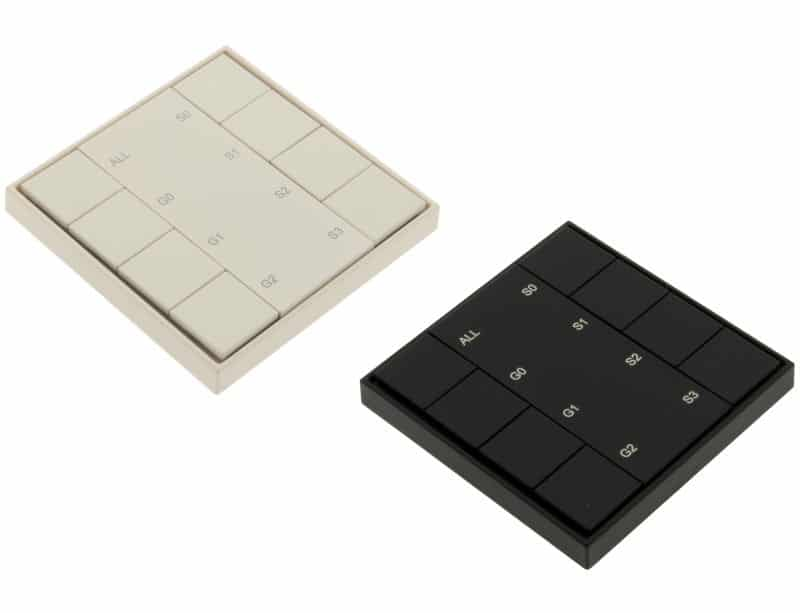 LED DALI Push Button Dimmer Mono 4 Zones (Groups)